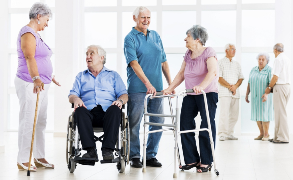 Seniors with mobility impairment .