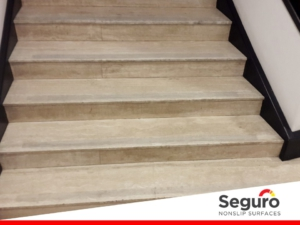 Clear anti-slip tape for stone steps